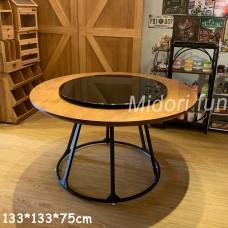 AB027 直拼松木圓桌