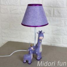 動物檯燈 紫色長頸鹿母子款