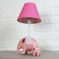 動物檯燈 甜心粉大象母子款