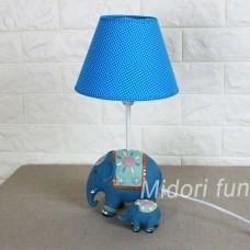 動物檯燈 清新藍大象母子款