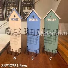 房屋造型兩格壁掛